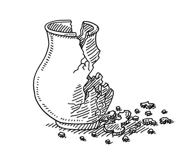 Royalty Free Broken Vase Clip Art Vector Images Illustrations