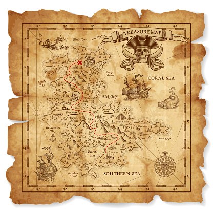 Antique Vector Treasure Map