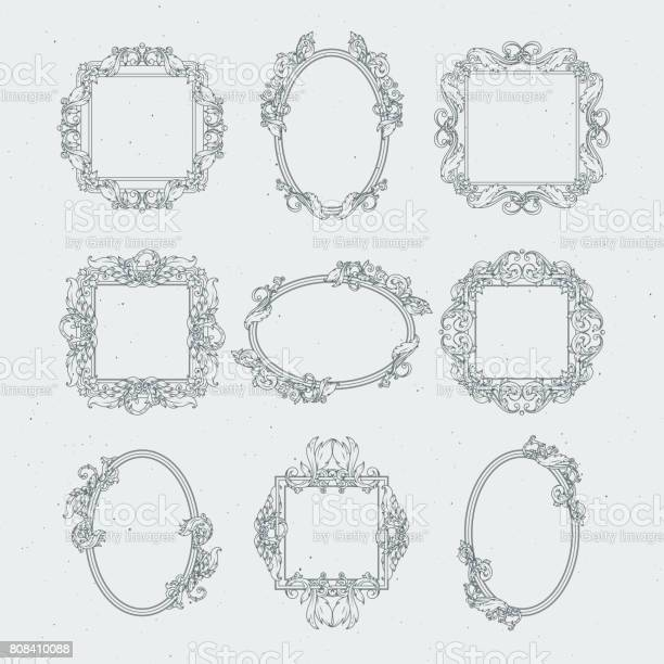 Antique victorian picture frames vector set in baroque style vector id808410088?b=1&k=6&m=808410088&s=612x612&h=psmglf8idteh d yx 9atn9f3u1y1pelpjk eunzi7k=