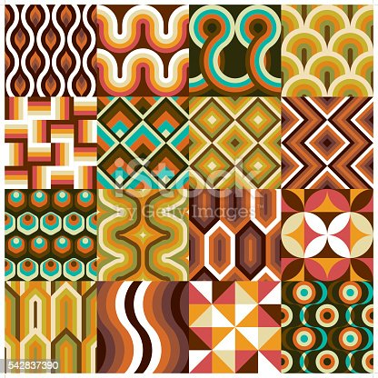 A set of 16 retro wallpaper. Each wallpaper is grouped individually.