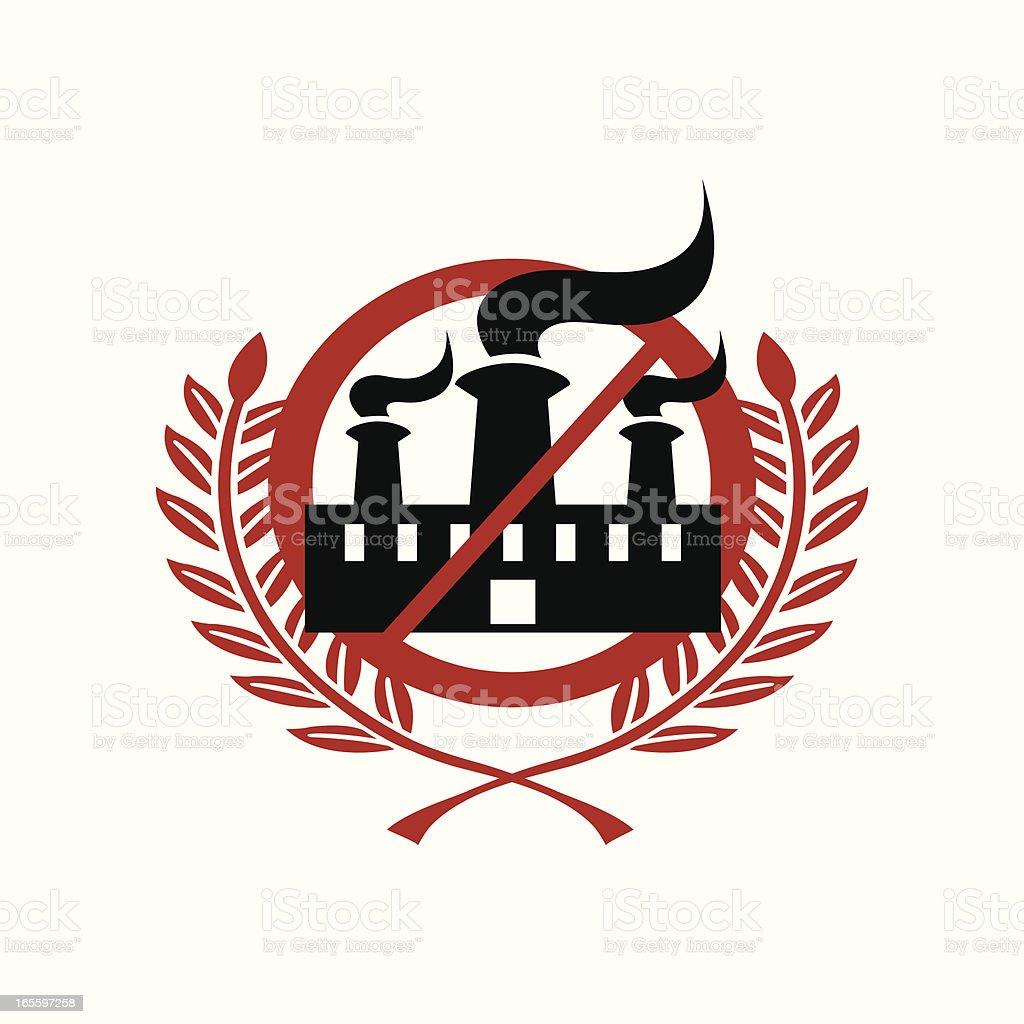Anti-como, & contra la contaminación de fábrica ilustración de anticomo contra la contaminación de fábrica y más banco de imágenes de alerta libre de derechos