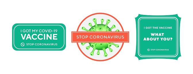 Antiviral antibacterial coronavirus formula vector icons. Coronavirus 2019 nCov, Covid 19 NCP virus stop signs, health protection, hand sanitizer labels.