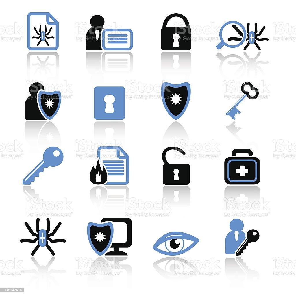 anti-virus icons royalty-free stock vector art