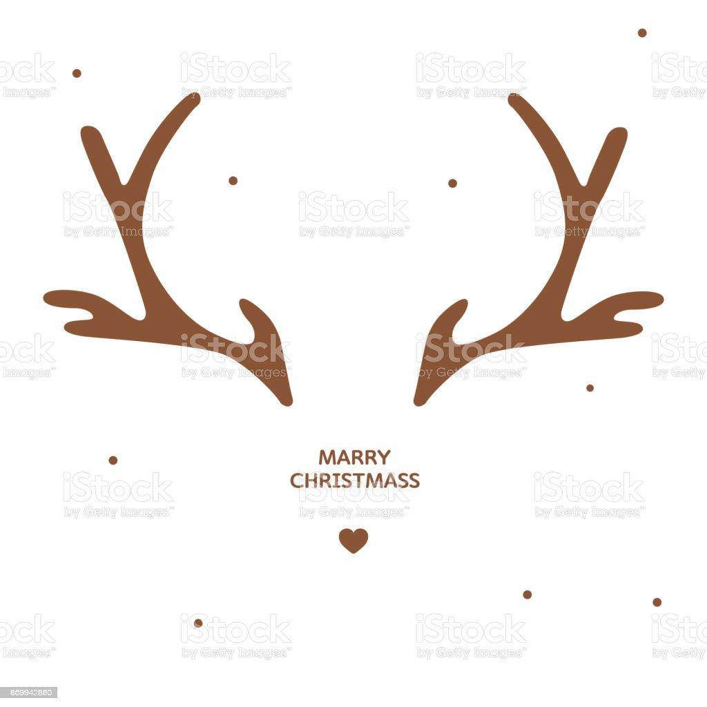 Geweih Weihnachtskarte Vorlage Stock Vektor Art und mehr Bilder von ...