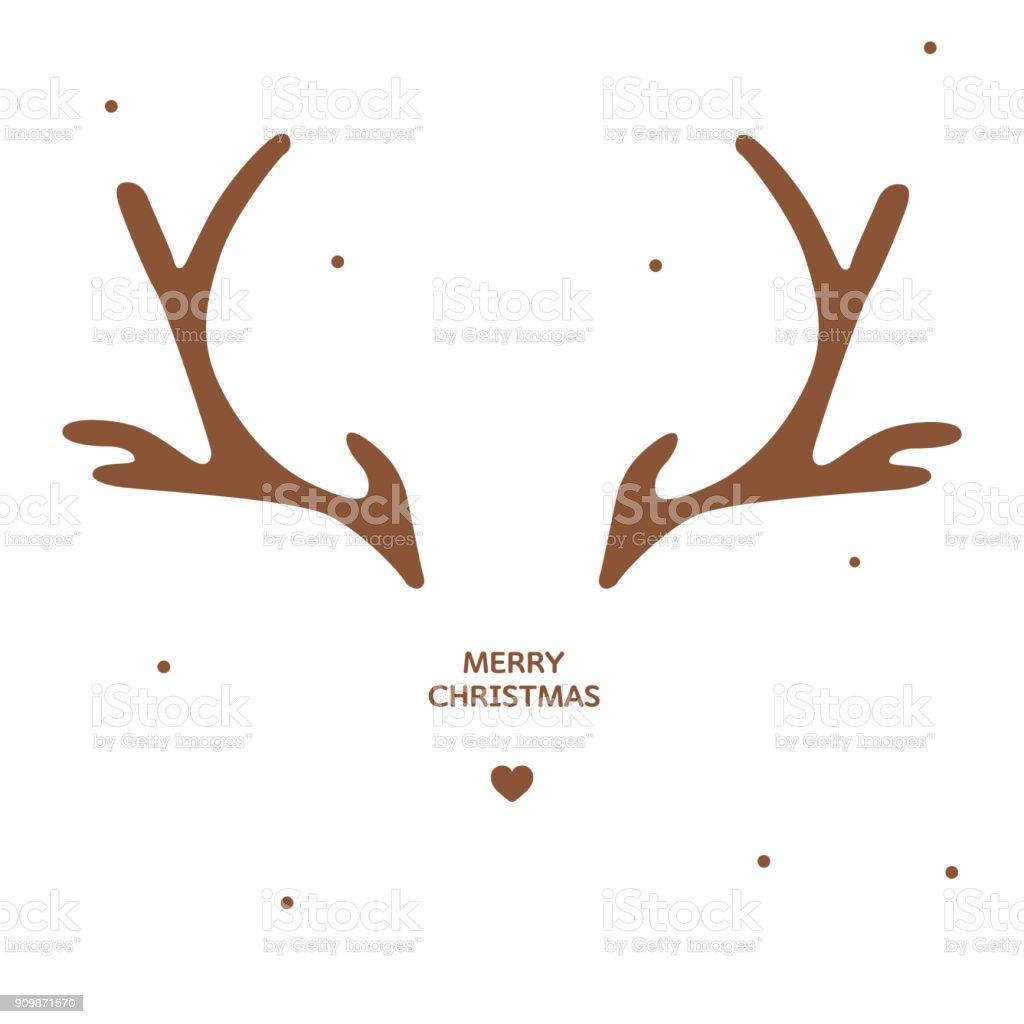 Geweih Weihnachtskarte Vorlage - Lizenzfrei Abstrakt Vektorgrafik