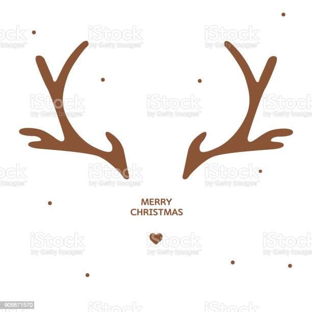 Geweih Weihnachtskarte Vorlage Stock Vektor Art und mehr Bilder von Abstrakt