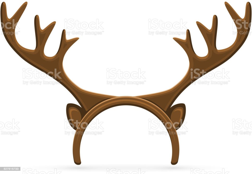 royalty free costume reindeer antlers clip art vector images rh istockphoto com  reindeer antlers clipart black and white