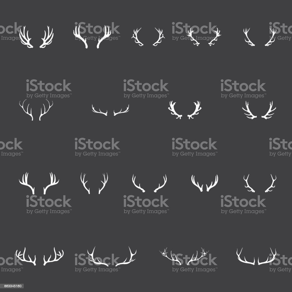 Antlers vector art illustration