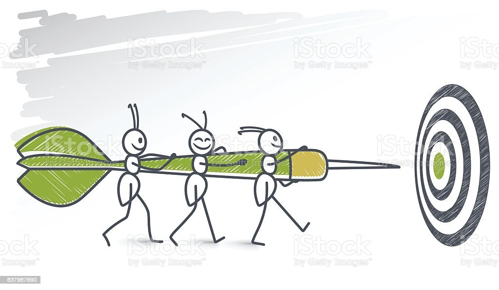 Ants carrying a picado vector art illustration