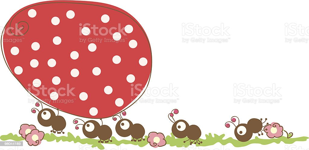 ants running with easter egg royalty-free ants running with easter egg stock vector art & more images of ant