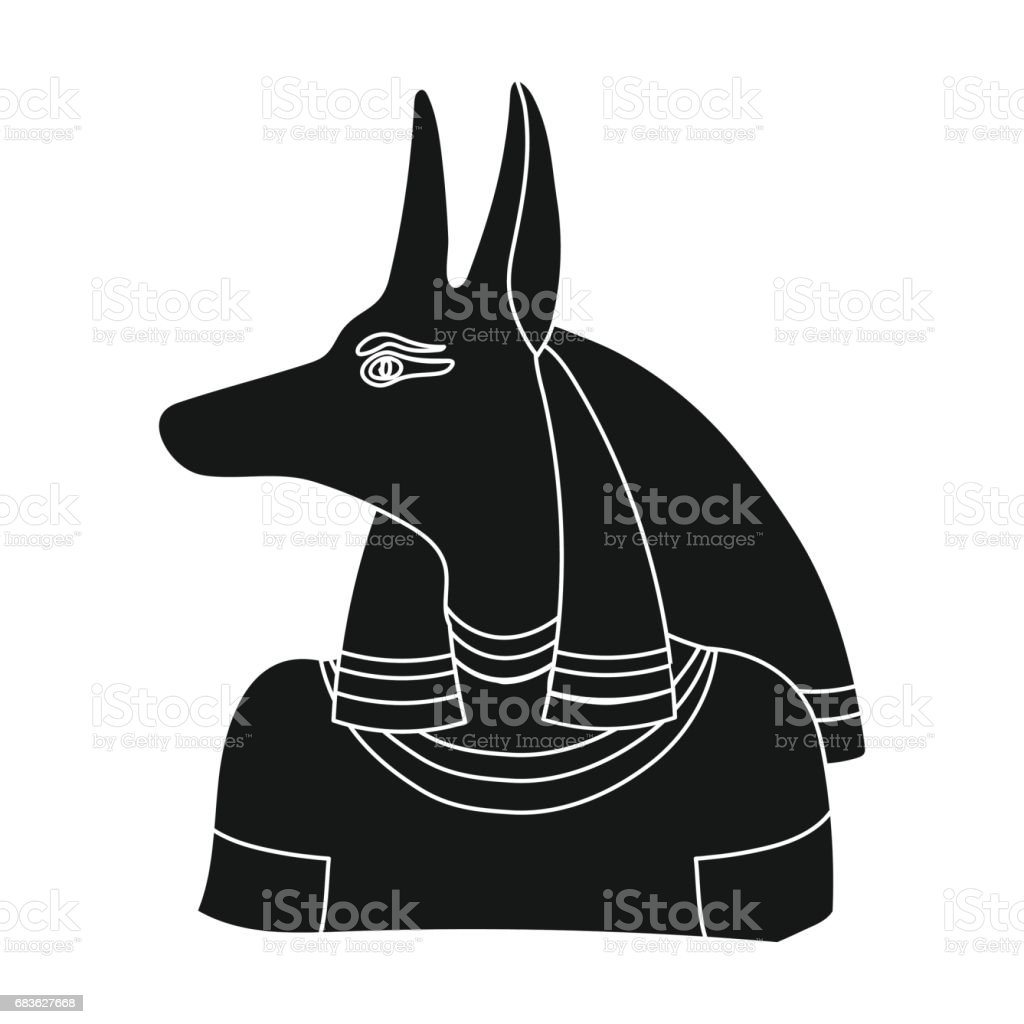 Anubis icon in black style isolated on white background ancient anubis icon in black style isolated on white background ancient egypt symbol stock vector illustration buycottarizona