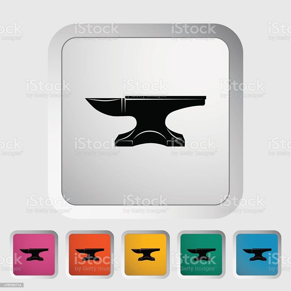 Anvil. Blacksmith equipment vector art illustration
