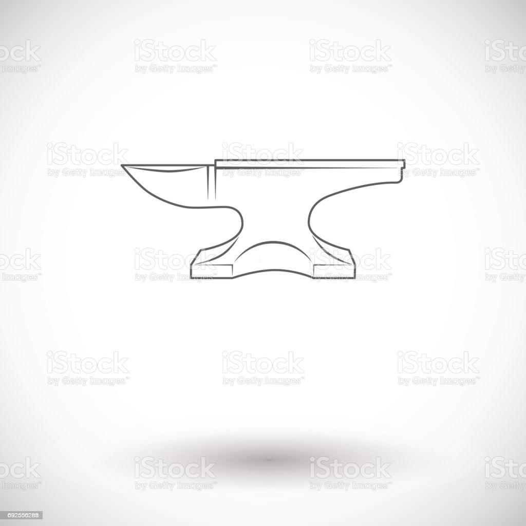 Anvil. Blacksmith equipment. vector art illustration