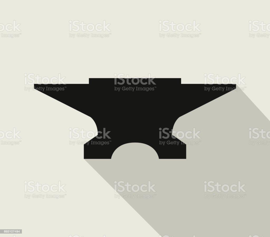 anvil icon vector art illustration