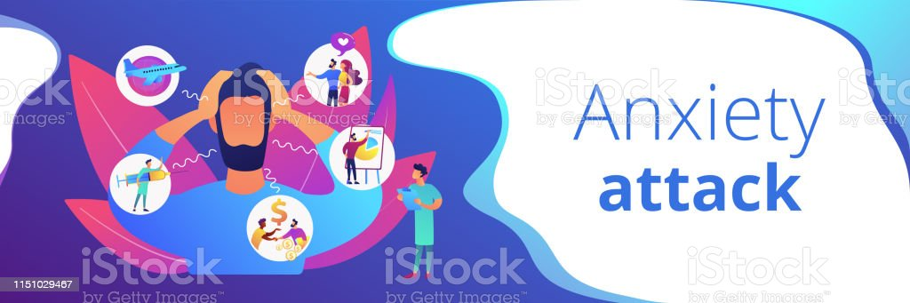 Anxiety Concept Banner Header Stock Illustration Download Image Now Istock