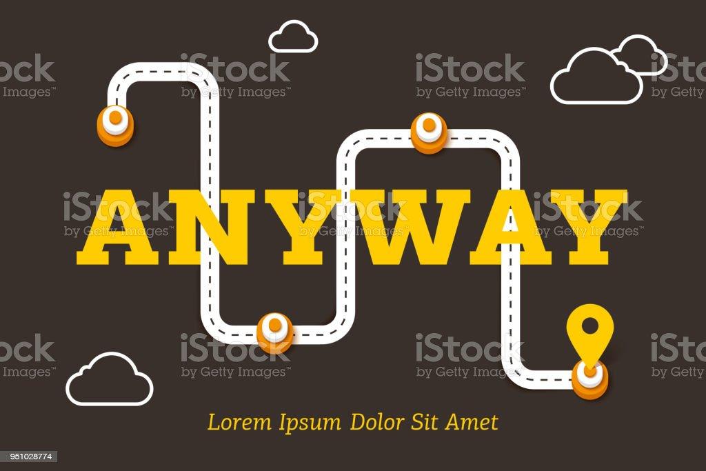 af4a3ff95252cf De todos modos concepto de negocio con camino sinuoso ilustración de de  todos modos concepto de
