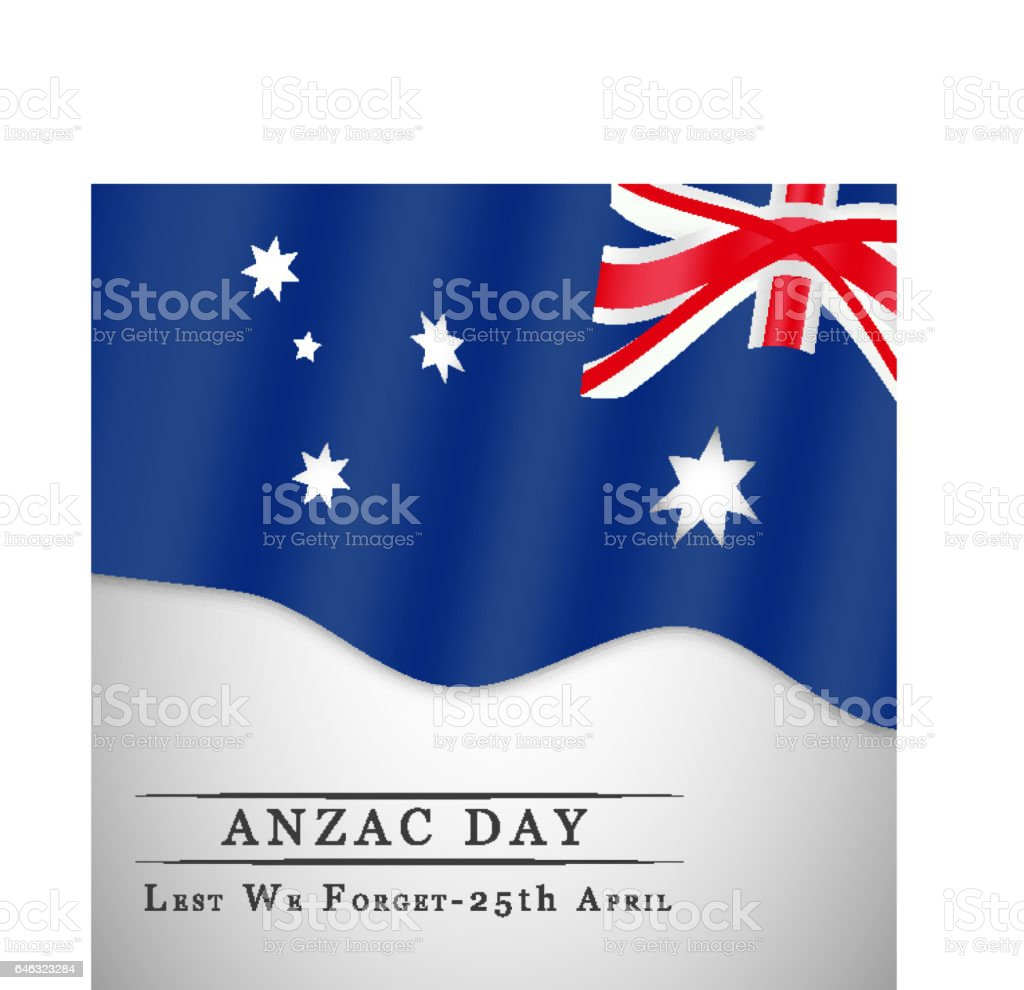 Anzac Day background vector art illustration