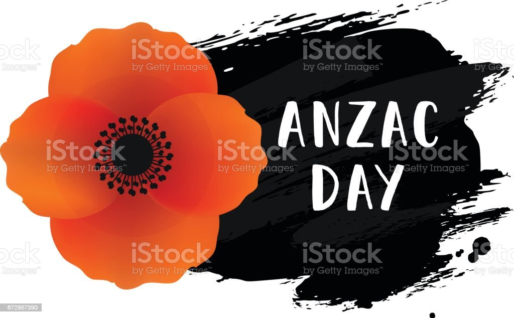 Anzac day card. Vector illustration of a bright poppy flower. vector art illustration