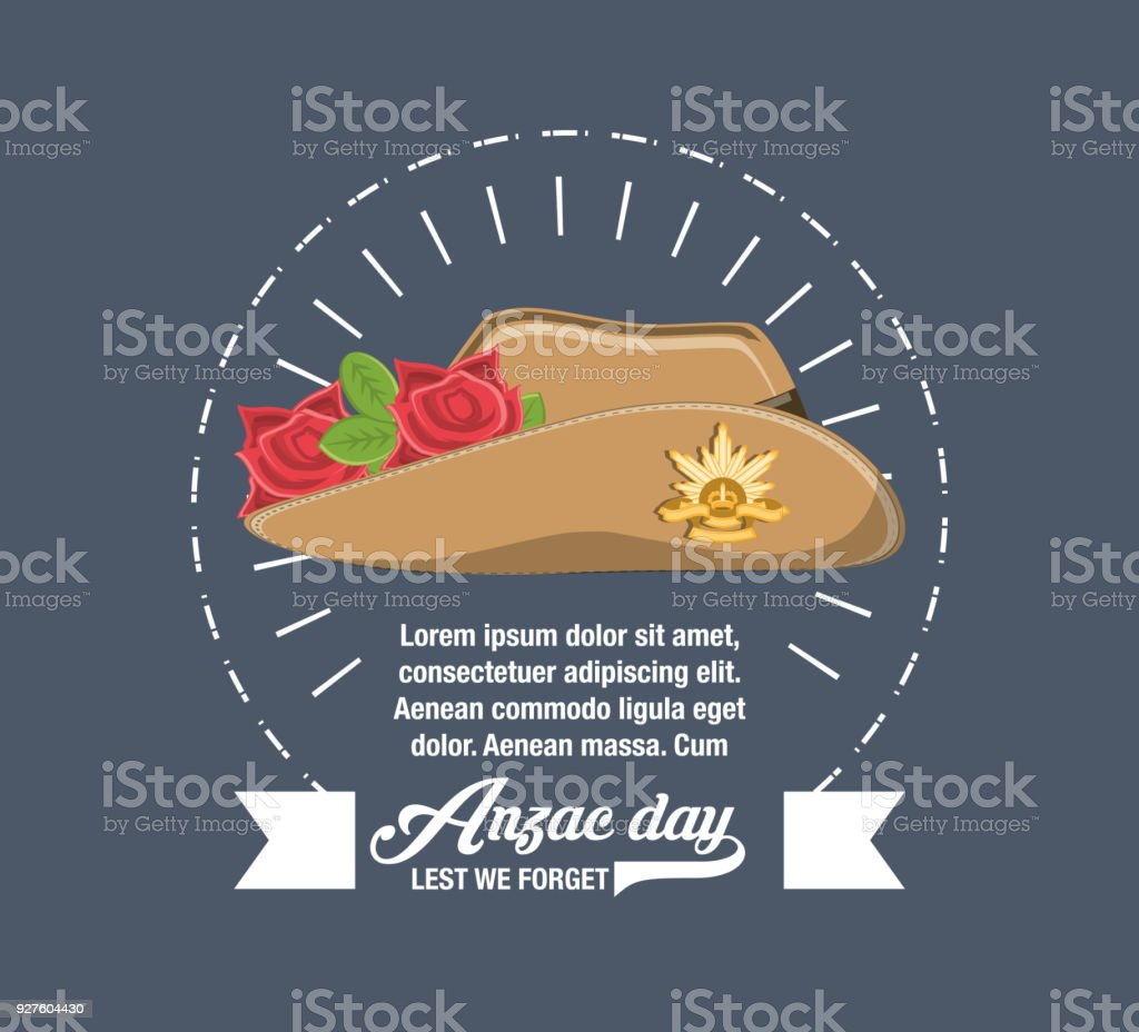 Anzac day design vector art illustration