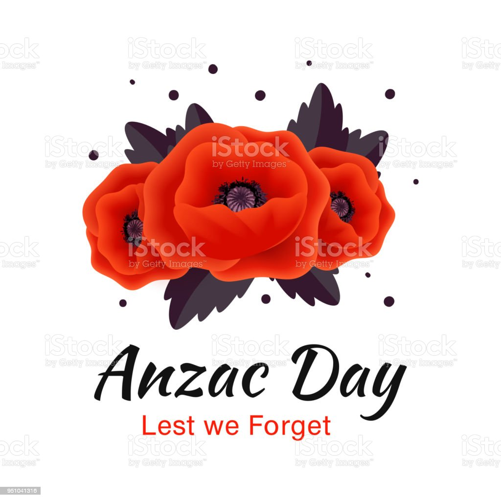 Anzac day vector card red poppy flower stock vector art more anzac day vector card red poppy flower royalty free anzac day vector card red mightylinksfo