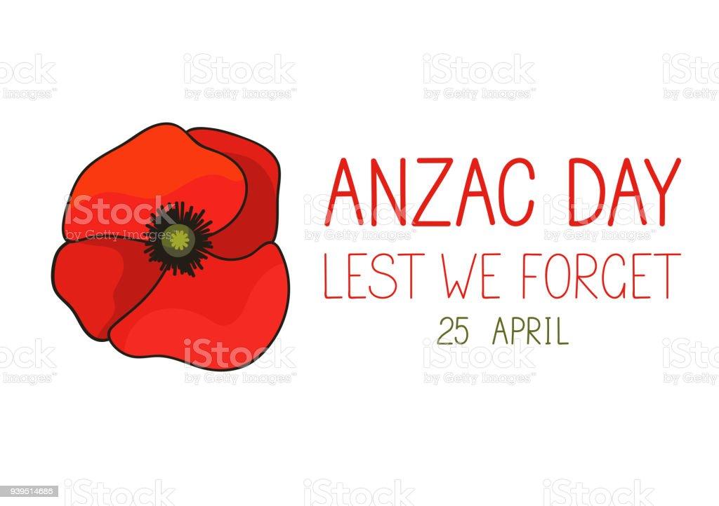 Anzac Day vector art illustration