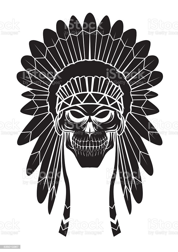 Apache Head Tattoo Stock Vector Art & More Images of Backgrounds ...