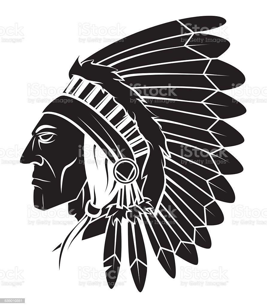 Apache Head Vector Illustration Tattoo Stock Vector Art More