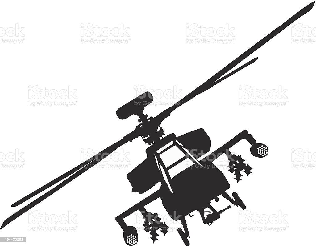Apache Helicopter Stock Vector Art & More Images Of