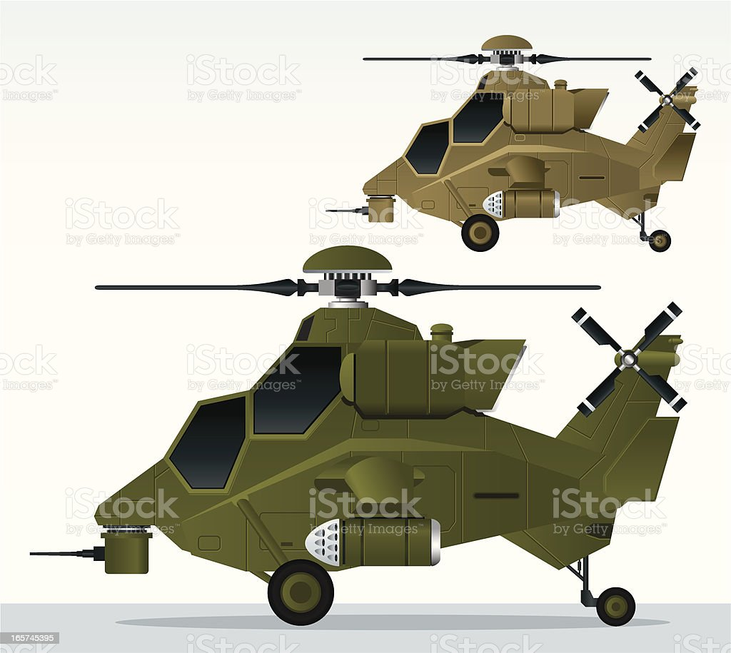 Apache Helicopter vector art illustration