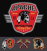 Apache skull motorteam graphic set