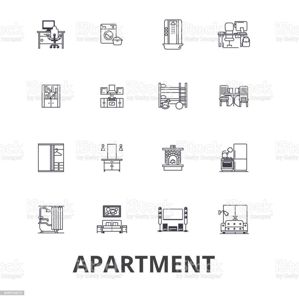 Wohnung Bau Haus Interieur Flach Komplex Architektur Wohnen Zimmer ...