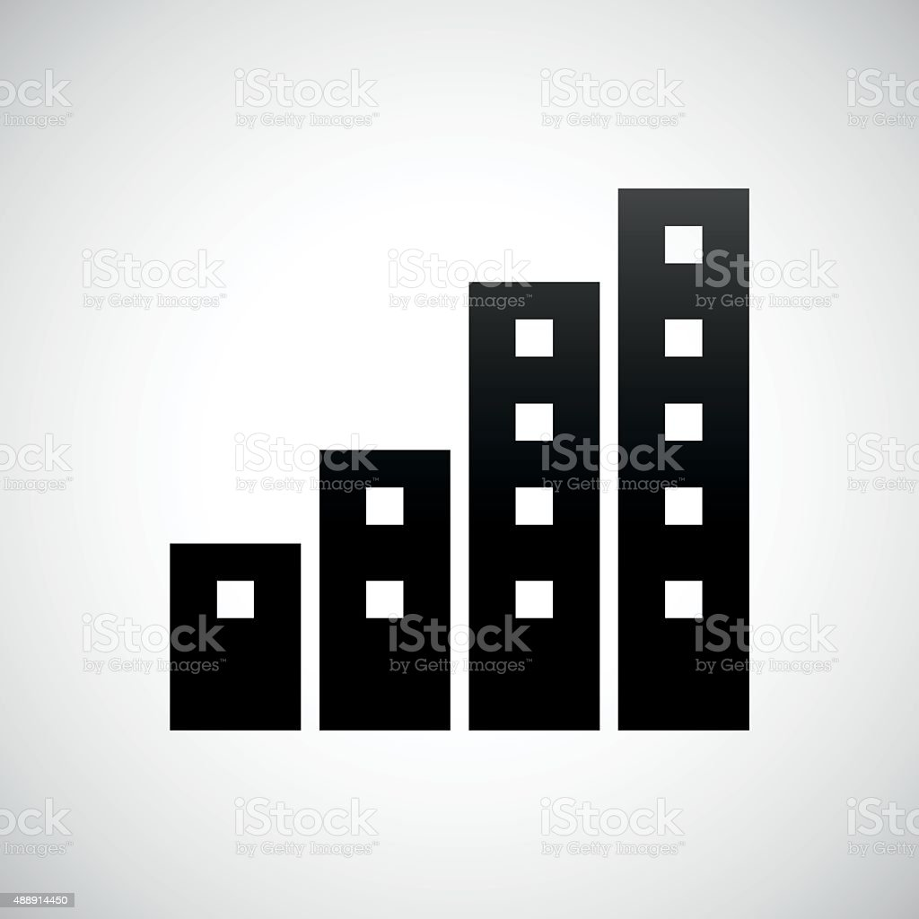 apartment building icon on a white background royalty free apartment building icon on a