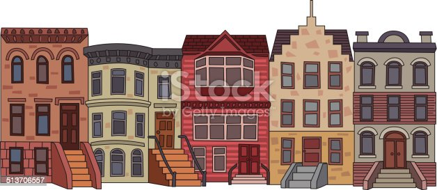 Brick Apartment Building Illustration. Apartment Building Illustration Stock Vector Art  More Images of 513706557 iStock
