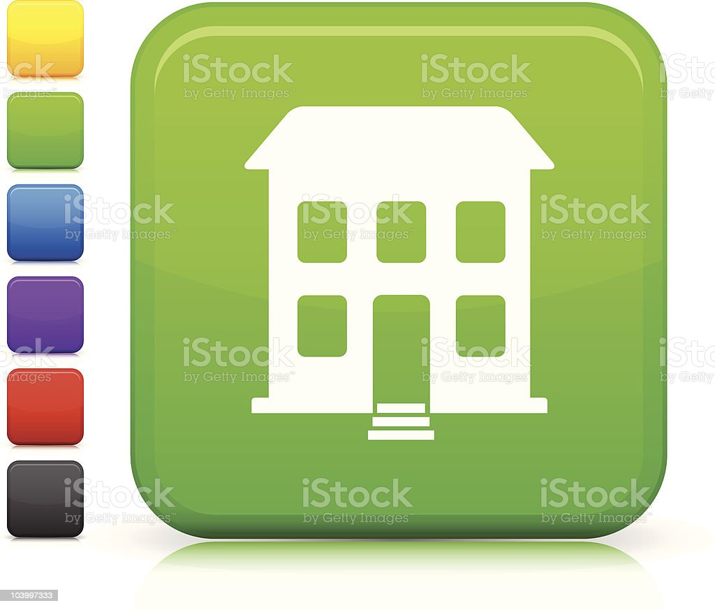 apartment building square icon royalty-free stock vector art