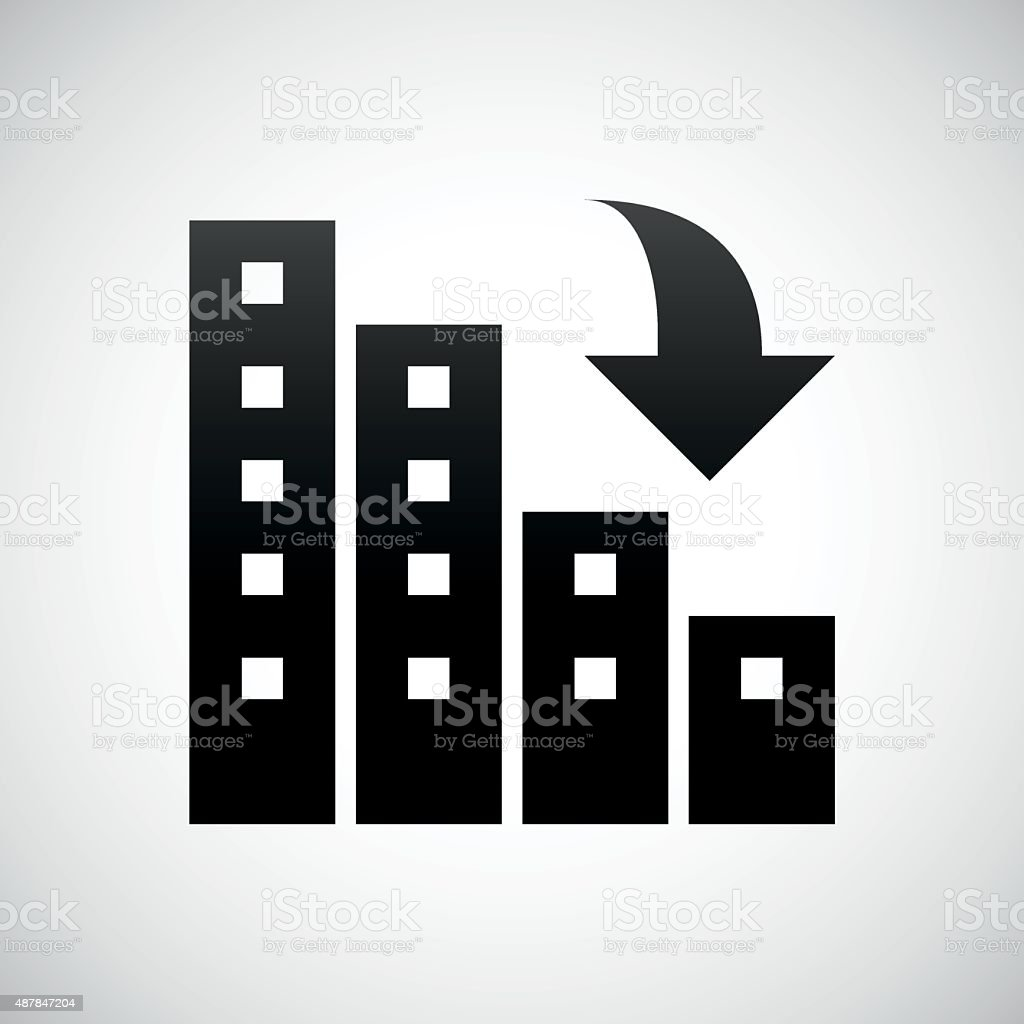 apartment buildings icon on a white background royalty free apartment buildings icon on a