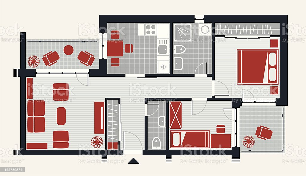Apartment Concept vector art illustration