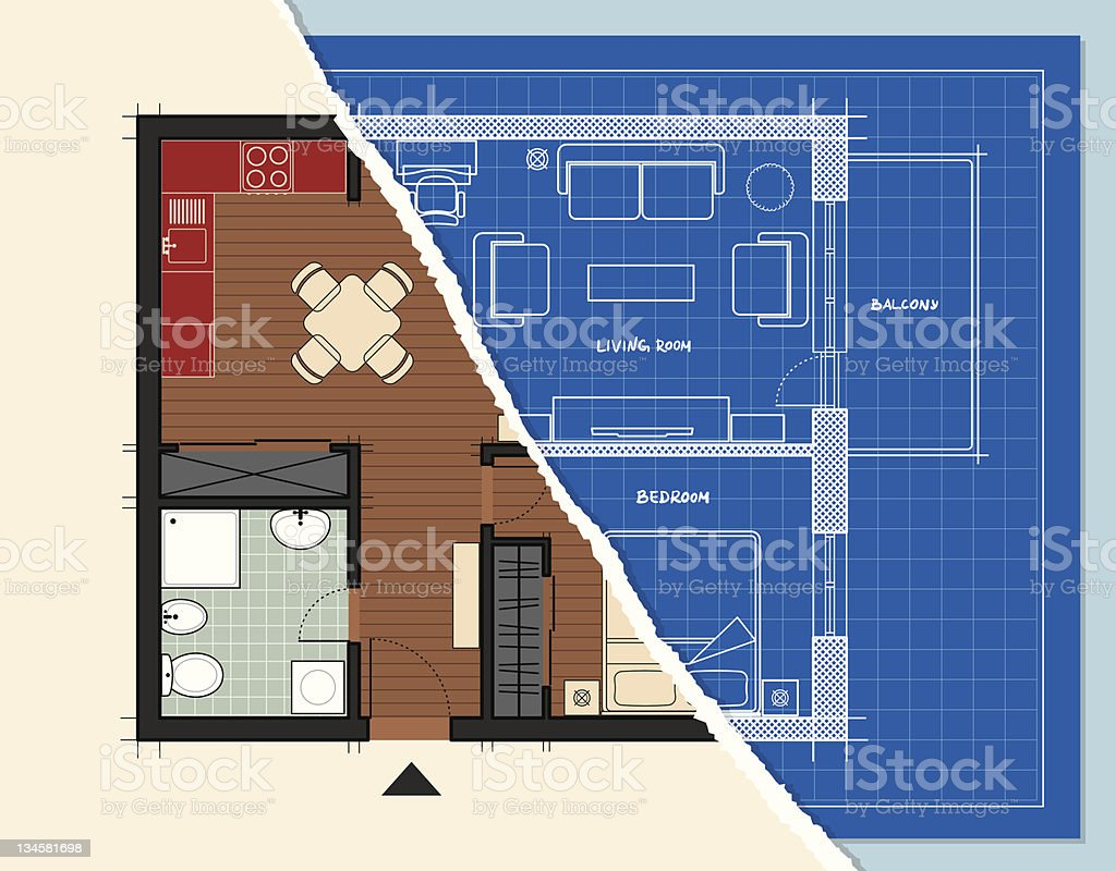 Apartment Design vector art illustration