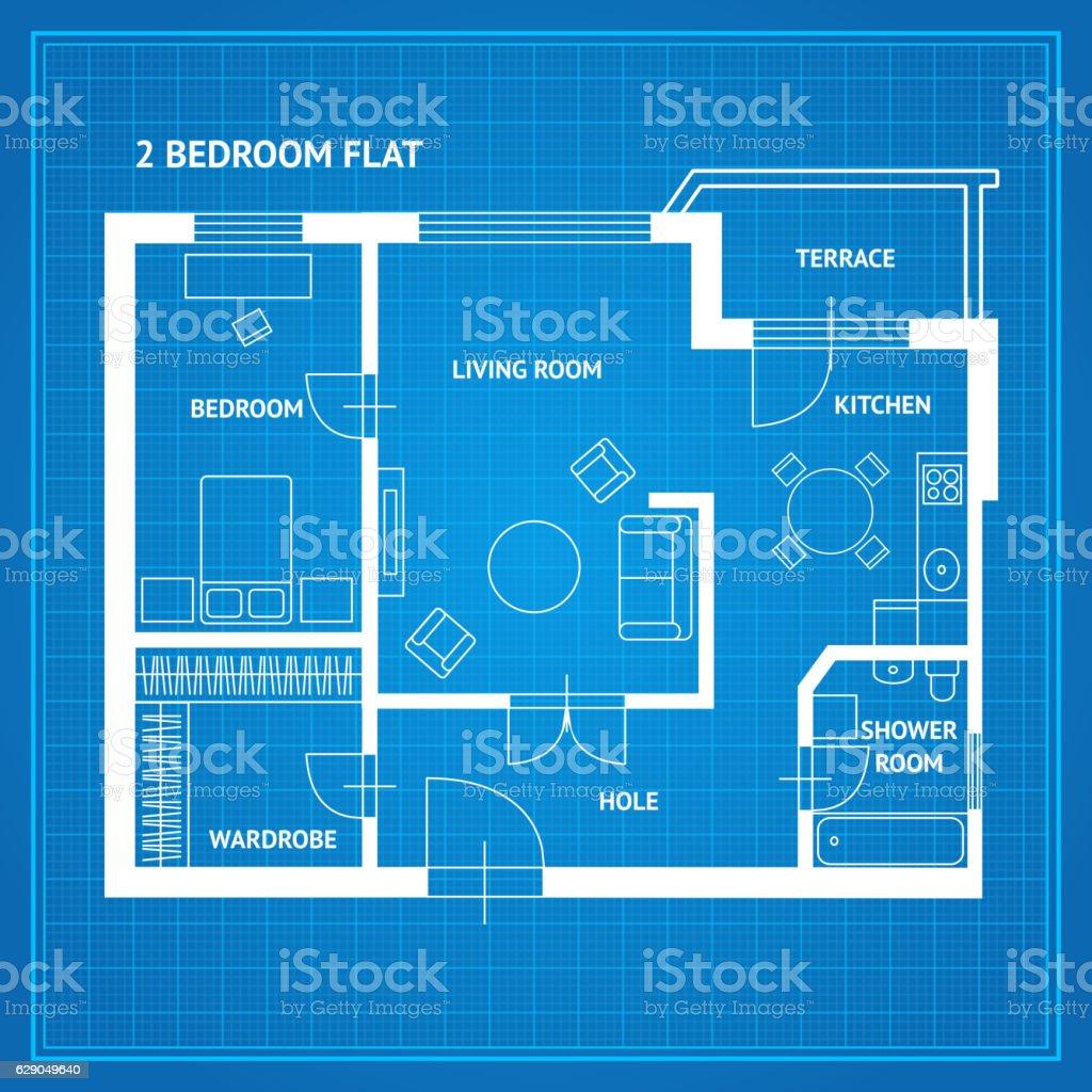 Apartment floor plan blueprint vector stock vector art more images apartment floor plan blueprint vector royalty free apartment floor plan blueprint vector stock vector malvernweather Image collections