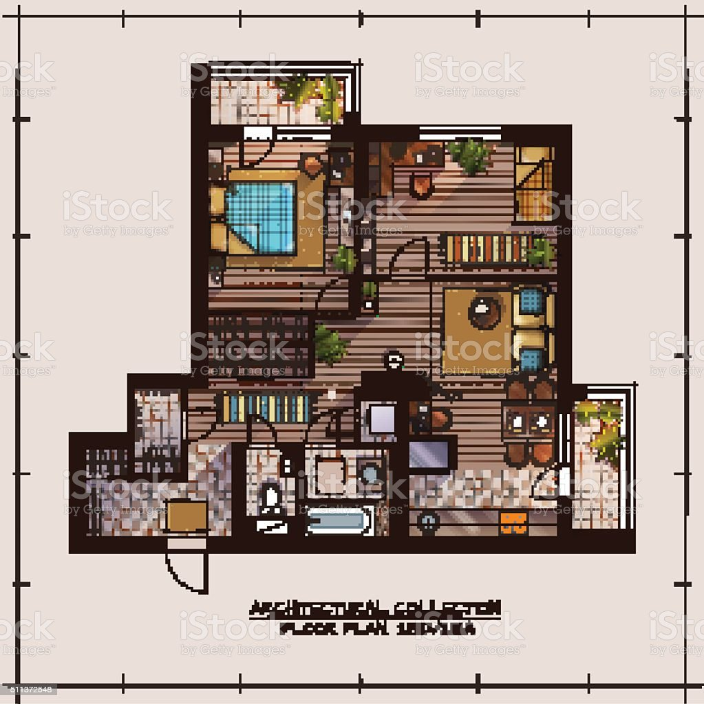 apartment floor plan royalty free apartment floor plan stock vector art more images - Flooring Plan