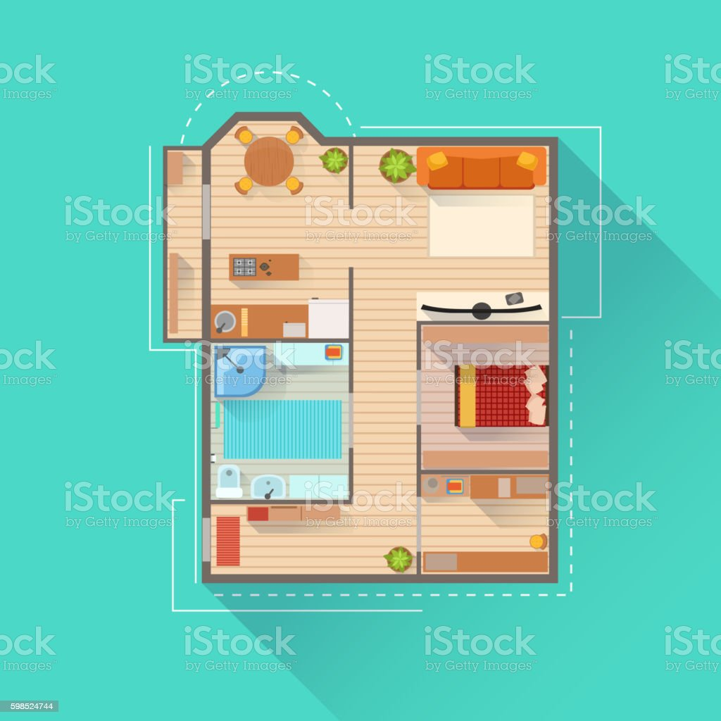 Apartment Interior Design Project View From Above Stock Vector Art on aero house design, vulcan house design, digital house design, ferrari house design, pilot house design, man house design, alpine house design, color house design, minimalist house design, 2d house design, linear house design, circle house design, clipart house design, universal house design, food house design, polygon house design, space house design, big house design, cartoon house design, retro house design,