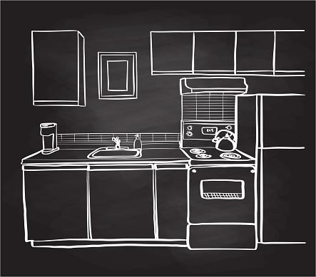 Apartment Kitchen Chalkboard