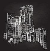Inner city sky scrappers