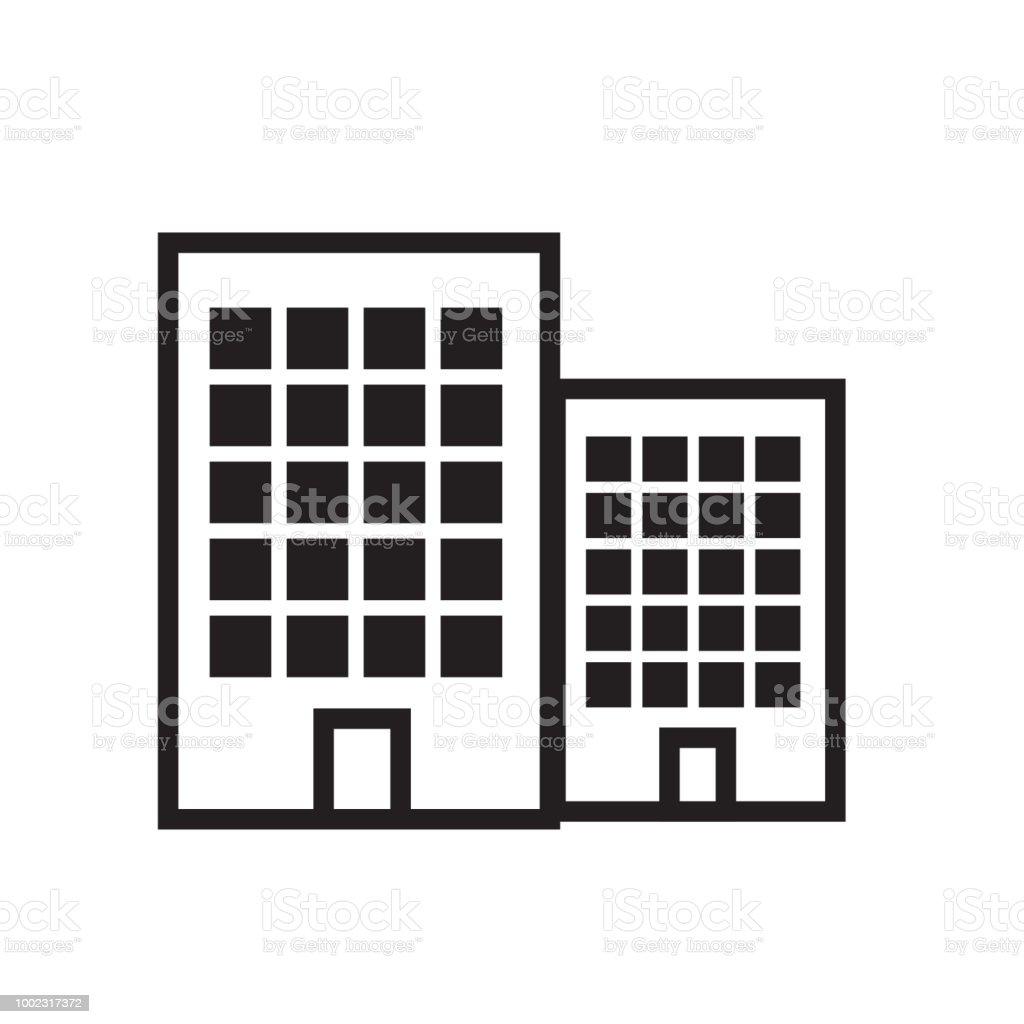 Icone De Vecteur Appartement Symbole De La Maison Moderne Simple