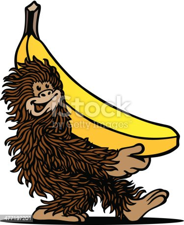 istock Ape & Banana 477197201