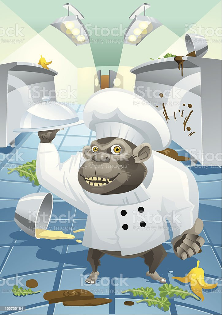 Ape in the kitchen royalty-free ape in the kitchen stock vector art & more images of animal