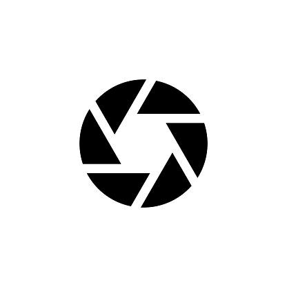 Aperture, Zoom Focus, Camera Shutter Flat Vector Icon