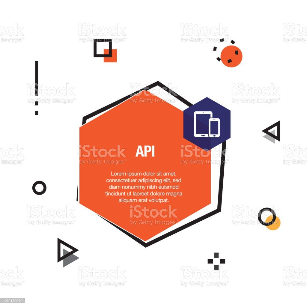 api インフォ グラフィック アイコン ベクター画像のベクターアート