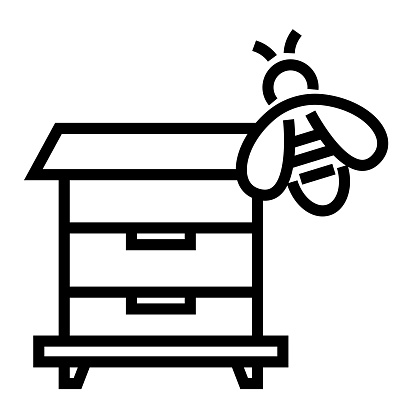 Apiculture Line Icon, Outline Symbol Vector Illustration