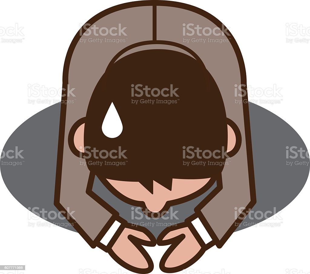Apology to businessman vector art illustration