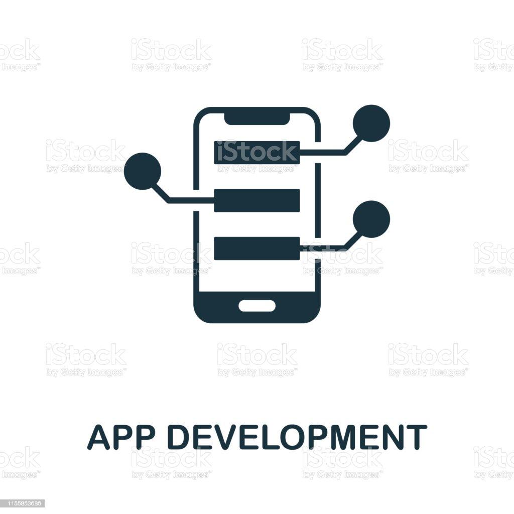 App Development icon. Creative element design from programmer icons...
